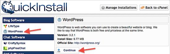 WordPress QuickInstall