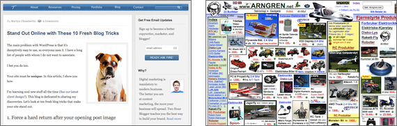 Two Hour Blogger and arngren.net Screen Grabs