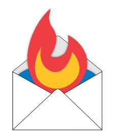 FeedBurner Logo in Envelope