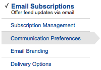 Feedburner Email Subscription Preferences