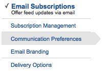 Feedburner Email Subscription Preferences