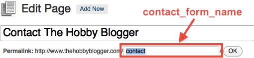 Contact Page Slug for Optimization Code