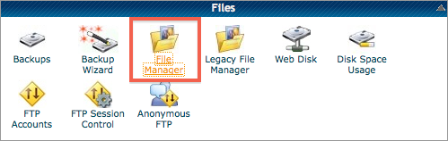 File Manager Icon in cPanel Files Section
