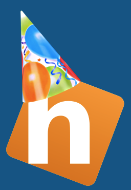 The Hobby Blogger Logo with Party Hat