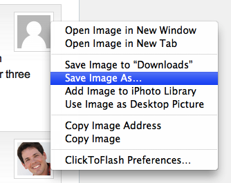 OS X Chrome Web Image Context Menu