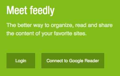Connect Feedly to Google Reader