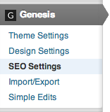 Genesis SEO Settings